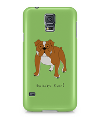 Samsung Galaxy S5 Full Wrap Case - Bulldogs Rule! - Dogs Rule!