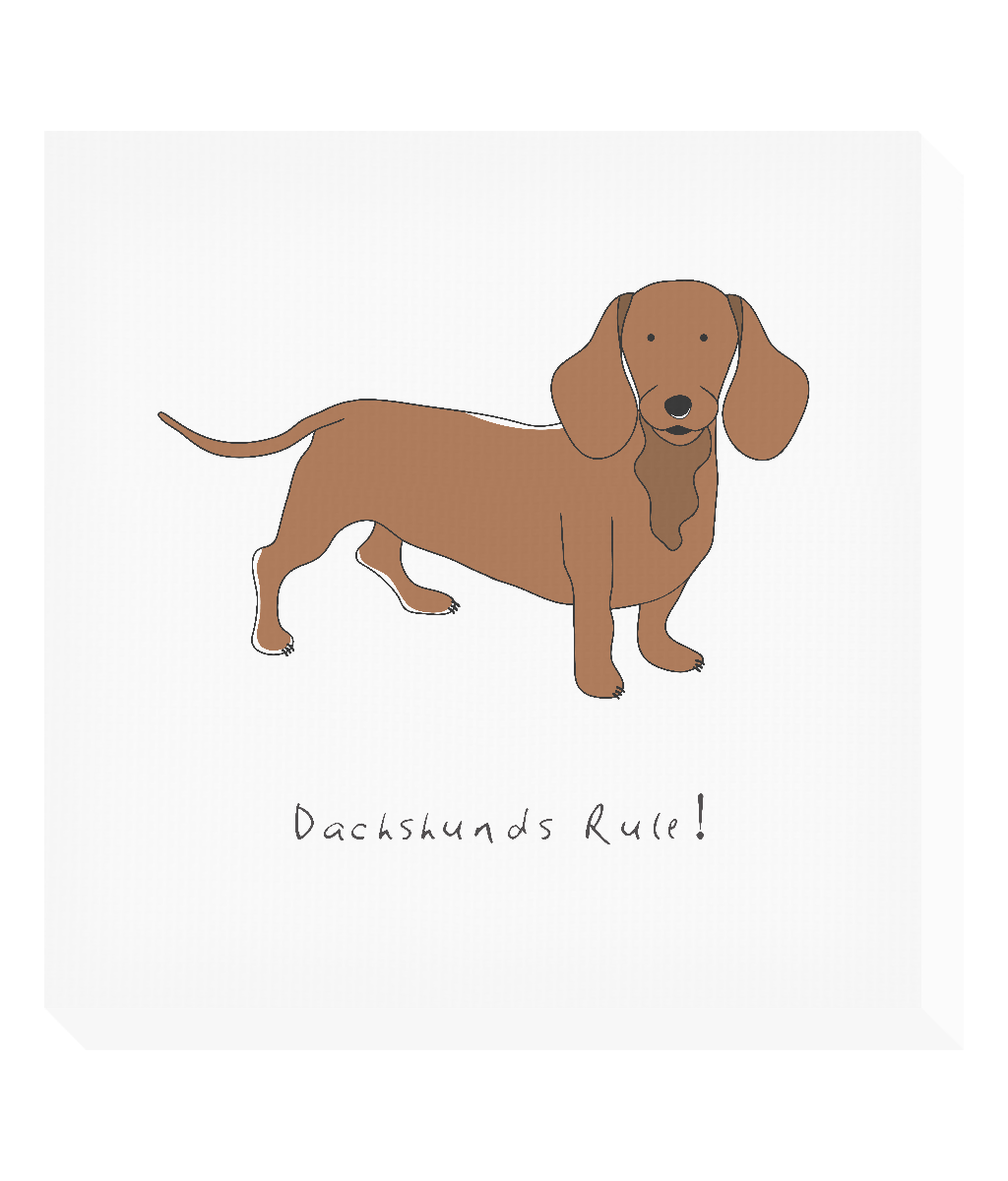Square Canvas Print - Dachshunds Rule!