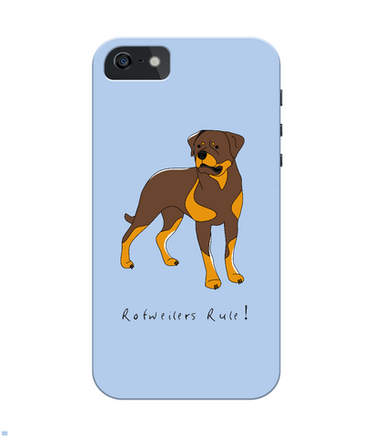 iPhone 4/4s Full Wrap Phone Case - Rotweilers Rule!