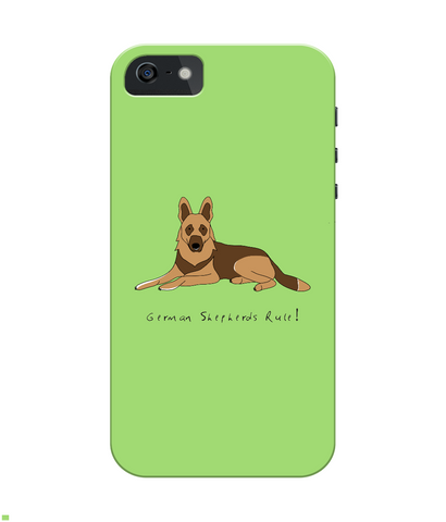 iPhone 4/4s Full Wrap Case - German Shepherds Rule! - Dogs Rule!