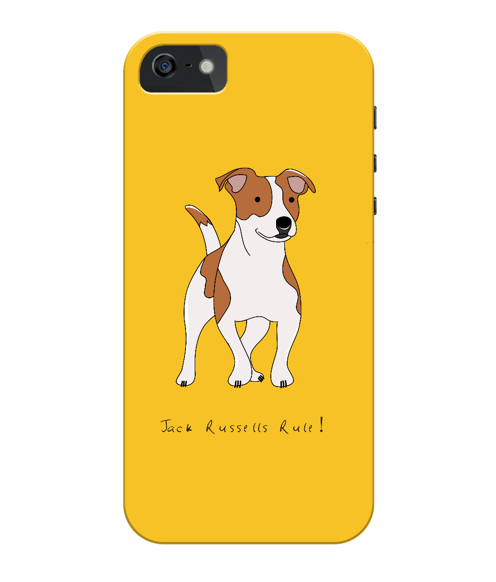 iPhone 5c Full Wrap Phone Case - Jack Russells Rule!