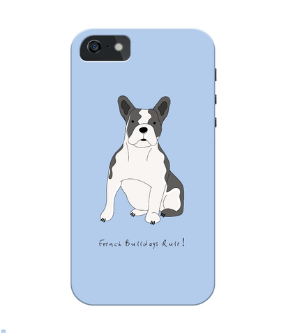 iPhone 4/4s Full Wrap Case - French Bulldogs Rule! - Dogs Rule!