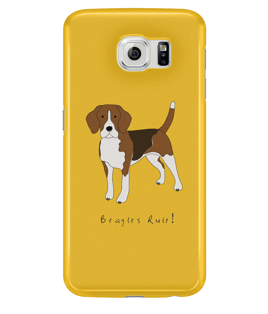 Samsung Galaxy S6 Full Wrap Case - Beagles Rule! - Dogs Rule!