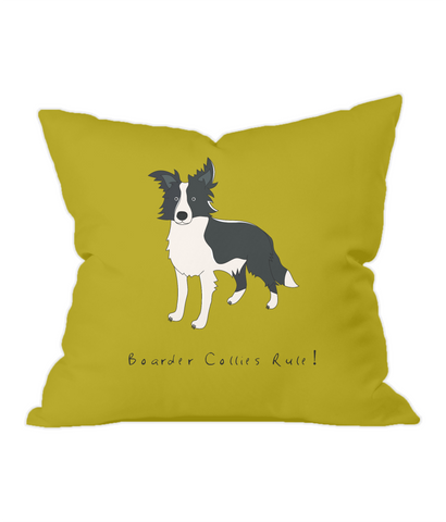 Throw Cushion - Boarder Collies Rule!