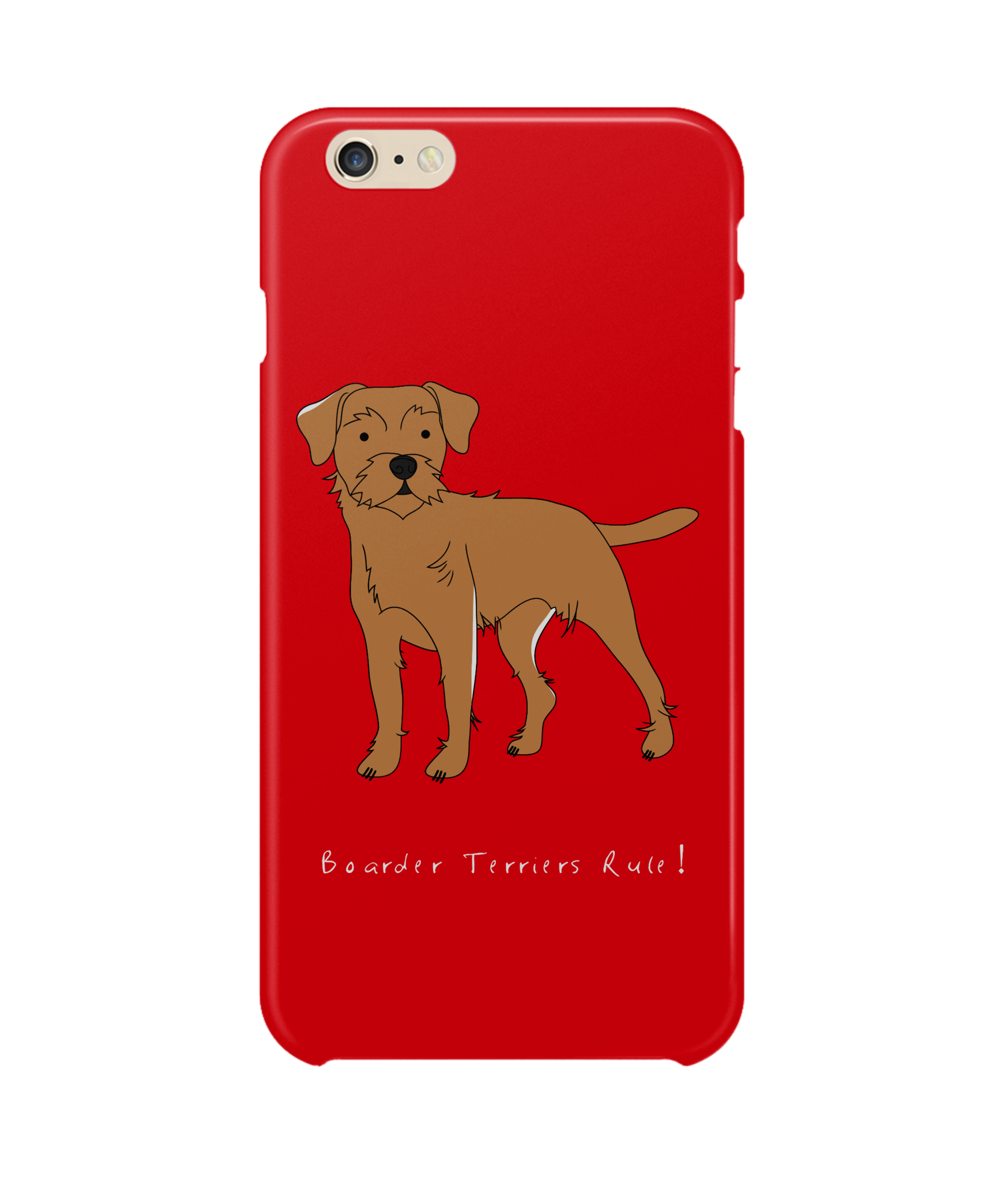 iPhone 6 Plus Full Wrap Phone Case - Boarder Terriers Rule!