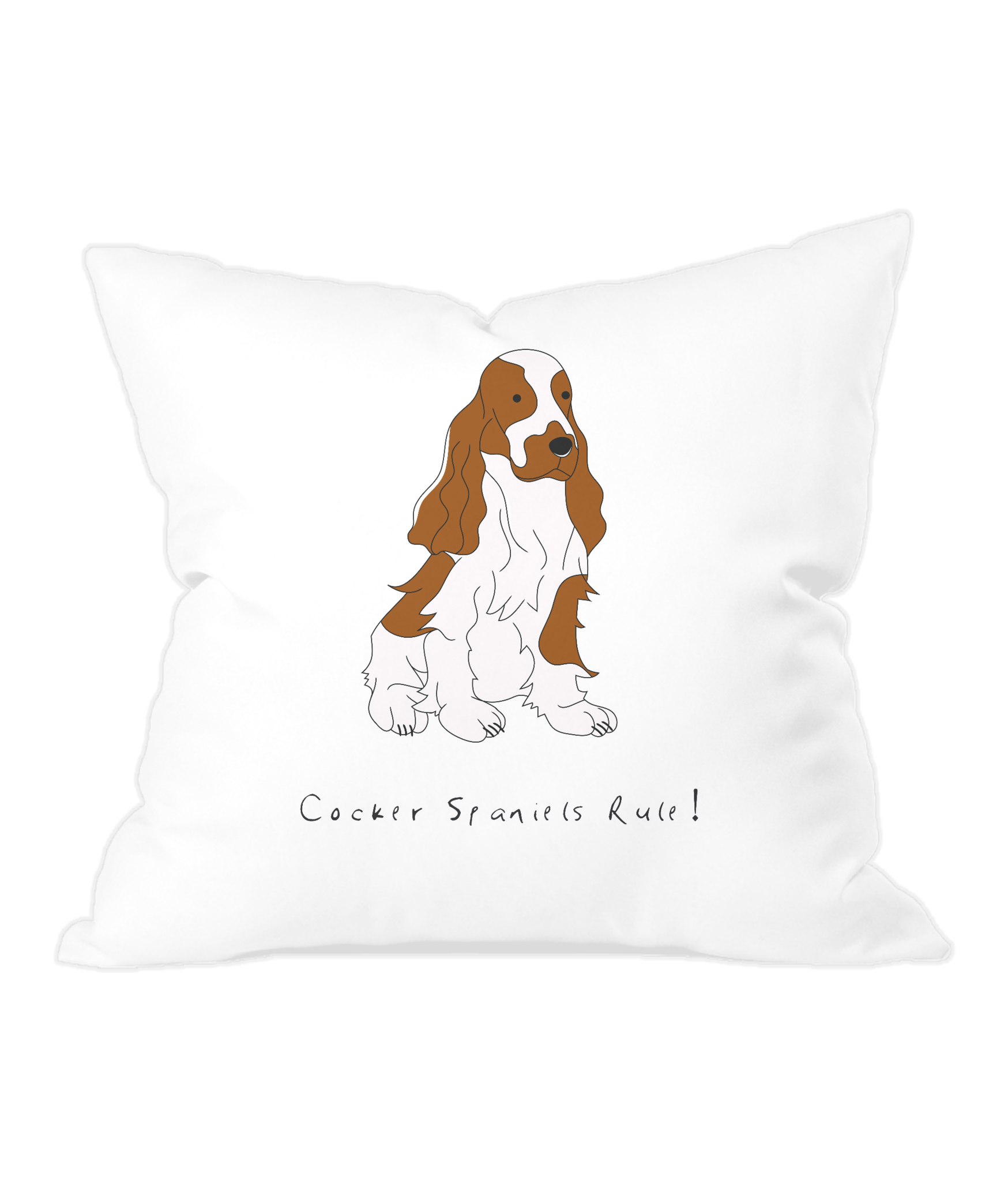 Throw Cushion - Cocker Spaniels Rule!