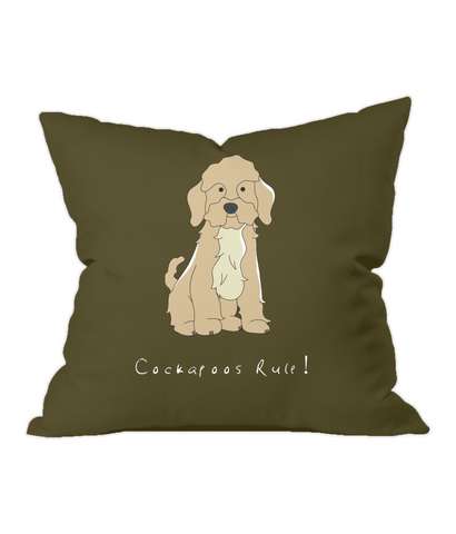 Throw Cushion - Cockerpoos Rule!