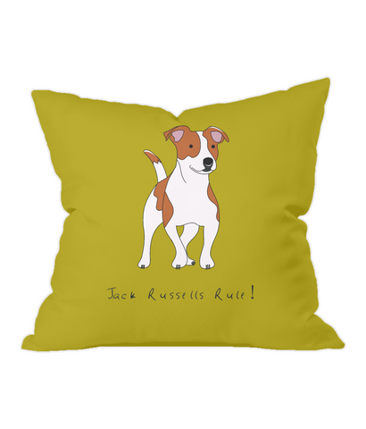 Throw Cushion - Jack Russells Rule!