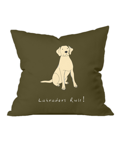 Labradors Rule! Chocolate Throw Cushion