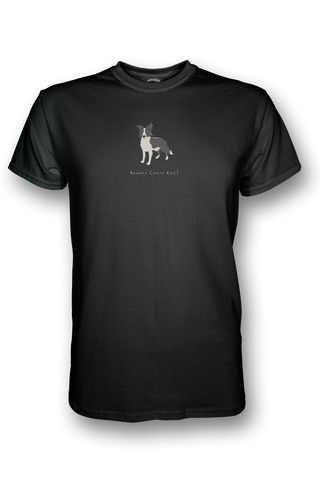 Mens Crew Neck T-Shirt - Boarder Collies Rule! Black