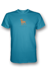 Mens Crew Neck T-Shirt - Boarder Terriers Rule! Caribbean Blue