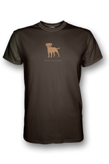 Mens Crew Neck T-Shirt - Boarder Terriers Rule! Chocolate
