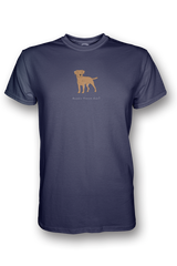 Mens Crew Neck T-Shirt - Boarder Terriers Rule! Heather Blue