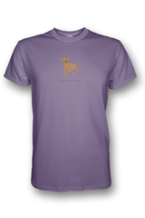 Mens Crew Neck T-Shirt - Boarder Terriers Rule! Heather Purple
