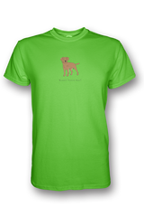 Mens Crew Neck T-Shirt - Boarder Terriers Rule! Neon Green