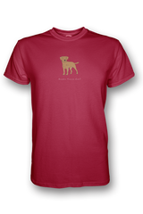 Mens Crew Neck T-Shirt - Boarder Terriers Rule! Red