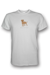 Mens Crew Neck T-Shirt - Boarder Terriers Rule! White