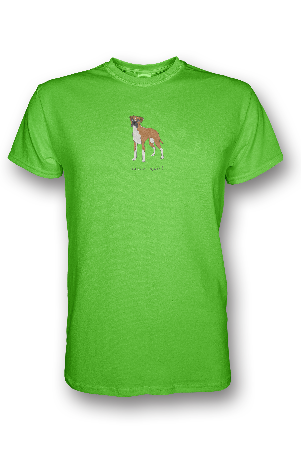 Mens Crew Neck T-Shirt - Boxers Rule! Neon Green