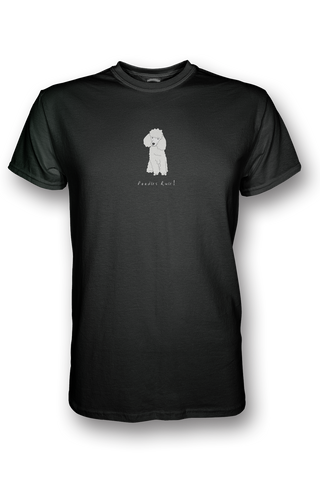 Mens Crew Neck T-Shirt - Poodles Rule! Black
