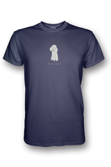 Mens Crew Neck T-Shirt - Poodles Rule! Heather Blue