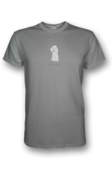 Mens Crew Neck T-Shirt - Poodles Rule! Heather Grey