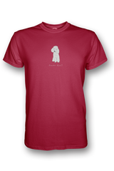Mens Crew Neck T-Shirt - Poodles Rule! Red