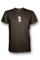 Mens Crew Neck T-Shirt - Poodles Rule! Chocolate