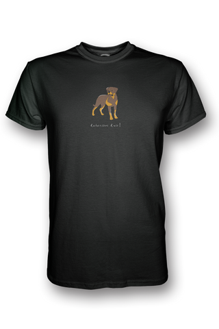 Mens Crew Neck T-Shirt - Rotweilers Rule! Black