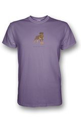Mens Crew Neck T-Shirt - Rotweilers Rule! Heather Purple