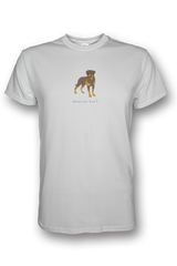 Mens Crew Neck T-Shirt - Rotweilers Rule! White