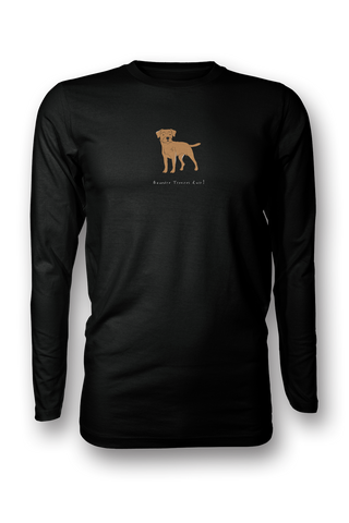 Mens Long Sleeve T-Shirt - Boarder Terriers Rule! Black