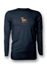 Mens Long Sleeve T-Shirt - Boarder Terriers Rule! Nvy