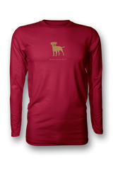 Mens Long Sleeve T-Shirt - Boarder Terriers Rule! Red