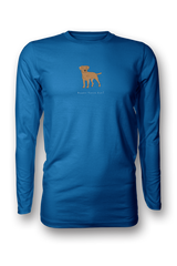 Mens Long Sleeve T-Shirt - Boarder Terriers Rule! Royal Blue