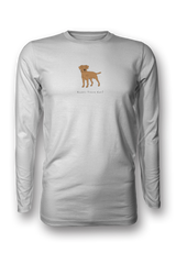 Mens Long Sleeve T-Shirt - Boarder Terriers Rule! White