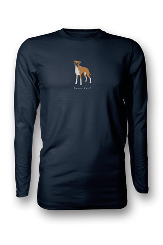 Mens Long Sleeve T-Shirt - Boxers Rule! Navy