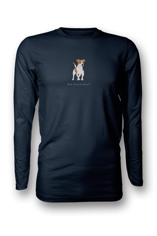 Mens Long Sleeve T-Shirt - Jack Russells Rule! NVY