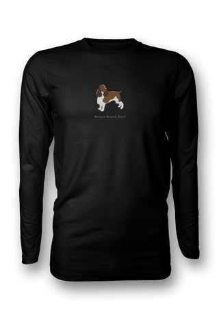 Mens Long Sleeve T-Shirt - Springer Spaniels Rule! Black