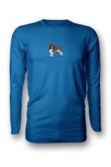 Mens Long Sleeve T-Shirt - Springer Spaniels Rule! Royal Blue