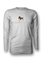 Mens Long Sleeve T-Shirt - Springer Spaniels Rule! White
