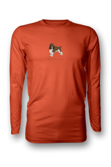 Mens Long Sleeve T-Shirt - Springer Spaniels Rule! Orange