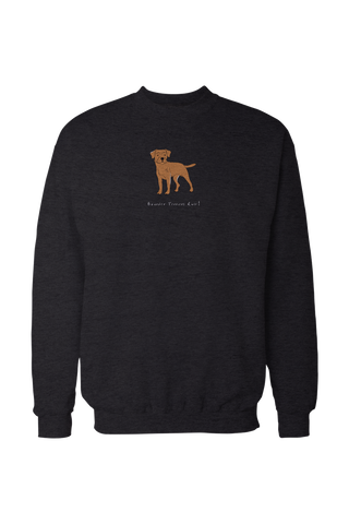 Mens Drop Shoulder Sweatshirt - Boarder Terriers Rule! Black