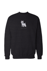 Mens Drop Shoulder Sweatshirt - Westies Rule! Black