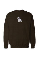 Mens Drop Shoulder Sweatshirt - Westies Rule! City green