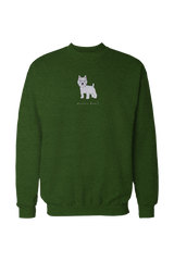 Mens Drop Shoulder Sweatshirt - Westies Rule! Apple Green