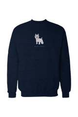 Mens Drop Shoulder Sweatshirt - Westies Rule! Navy
