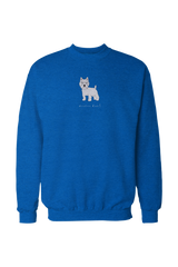 Mens Drop Shoulder Sweatshirt - Westies Rule! Royal Blue