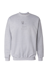 Mens Drop Shoulder Sweatshirt - Westies Rule! White