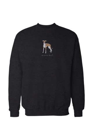 Mens Drop Shoulder Sweatshirt - Whippets Rule! Black
