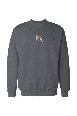 Mens Drop Shoulder Sweatshirt - Whippets Rule! Grey